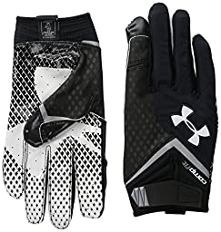 Under Armour Men\'s Nitro Football Gloves, Large, Black (001)