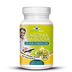 Pure Garcinia Cambogia Extract - 3 Month Supply 65 Hca Clinically Proven Formula - Extra Strength 1000mg Per Serving With Calcium Potassium And Chromium - Natural Veggie Weight Loss Diet Pills And Appetite Suppressant For Men And Women That Works Fast fro
