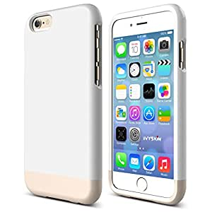 iPhone 6 6s Plus Case [SLIMFIT Series] Protective Slider Case for Apple iPhone 6 /6s Plus Soft-Interior Scratch Protection - White / Rose Gold [ Screen Guard ]