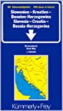 echange, troc Cartes Kümmerly + Frey - Carte routière et touristique : Croatie - Slovénie - Bosnie