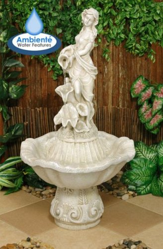 Ambiente Liliana Water Feature Figurine (Ivory)