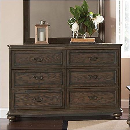 Riverside Furniture Belmeade Six Drawer Dresser in Old World Oak