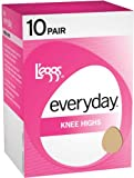 LEGGS Everyday Knee Highs RT - 10 Pack - 39900 - Nude, 1 Size