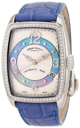 Armand Nicolet Women's 9631D-AK-P968VL0 TL7 Classic Automatic Stainless-Steel with Diamonds Watch