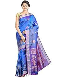 Anagha Handloom Kanjivaram Soft Silk Saree - Blue