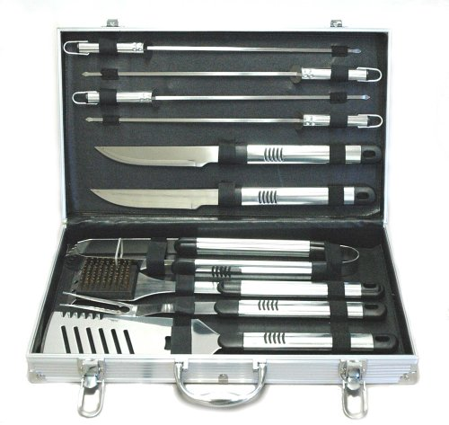 Boston Traveler Outdoor Stainless Steel 10-Piece Barbecue Grill Set