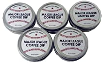 Major League Coffee Dip (Pack of 5) Quit Chewing Tin Can Non Tobacco Nicotine Free Smokeless Alternative to Chew Snuff Snus Leaf Los Angeles Angels of Aneheim Oakland Athletics Seattle Mariners Texas Rangers Cleveland Indians Detroit Tigers Minnesota Twins Kansas City Royals Chicago White Sox Toronto Blue Jays Baltimore Orioles Tampa Bay Rays Boston Red Sox New York Yankees Washington Nationals New York Mets Philadelphia Phillies Atlanta Braves Florida Miami Marlins Milwaukee Brewers St. Louis Cardinals Chicago Cubs Pittsburgh Pirates Cincinnati Reds Houston Astros Arizona Diamondbacks Los Angeles Dodgers San Francisco Giants San Diego Padres Colorado Rockies