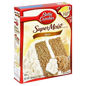Betty Crocker Super Moist Spice Cake Mix At Amazon