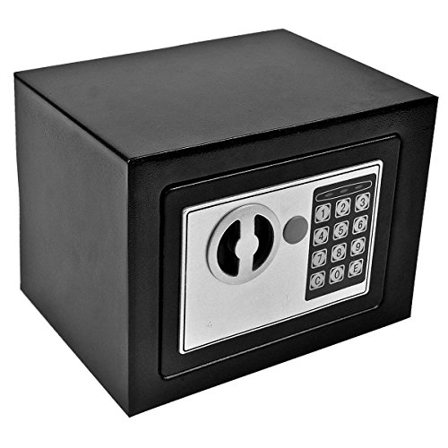 Giantex Durable Digital Electronic Safe Box Keypad Lock Home Office Hotel Gun (Black)