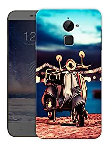 "Vintage Scooter Beach Printed Designer Mobile Back Cover For ""Coolpad Note 3 Lite"" By Humor Gang (3D, Matte Finish, Premium Quality, Protective Snap On Slim Hard Phone Case, Multi Color)"