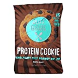 Buff Bake High Protein Cookie, Peanut Butter, 16 Grams of Protein, 2.8-ounce Cookies (Pack of 12) (Chocolate Chip)