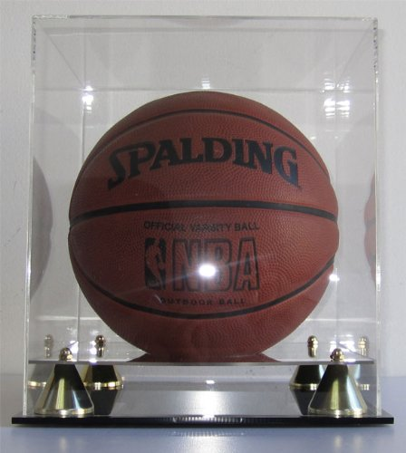 Basketball Display Case Holder Box With UV Protection, Riser Base, AC--BB05 (Chicago Bulls Display Case compare prices)