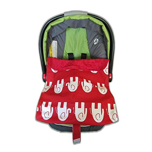 Car Seat Blankie Elephants (Red) front-379517