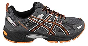 ASICS Men's GEL Venture 5 Running Shoe, Carbon/Black/Hot Orange, 10.5 M US