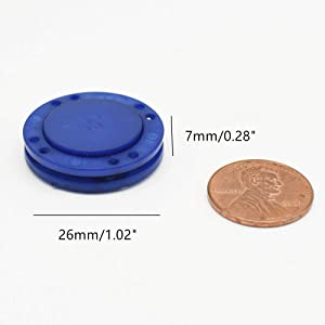 41L Magnetic Coat Buttons 26mm/1 Invisible Hidden Sewing Button Nylon with Magnets Inside for Coat Jacket Suitcase Bag Windbreaker Pajamas 6pcs (Blue) (Color: BLUE)