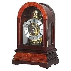 HENSE Chiming Regulator Mechanical Wind-Up Desk Table Mantel Clocks Living Room Decorative Solid Wood Clocks HD326