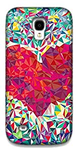 The Racoon Lean Love triangles hard plastic printed back case / cover for Samsung Galaxy S4 Mini
