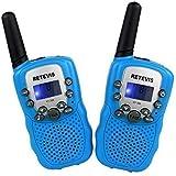 Retevis RT-388 Walkie Talkie Ricetrasmettitore 8 Canali VOX Ricetrasmittente per Bambini (Blu)