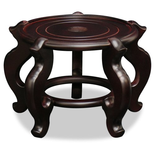 China Furniture Online Chinese Wooden Stand, 9.5 Inches Fishbowl Planter Display Pedestal (Chinese Fish compare prices)