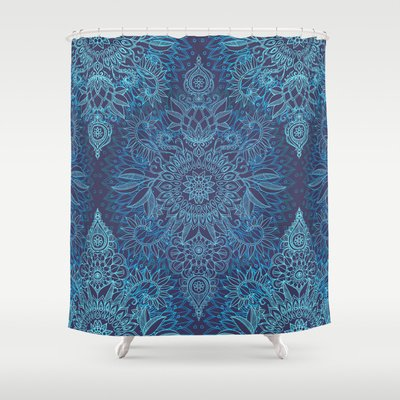 Best Cobalt Blue Shower Curtain Designs Fabric Mildew Free Reviews cover image