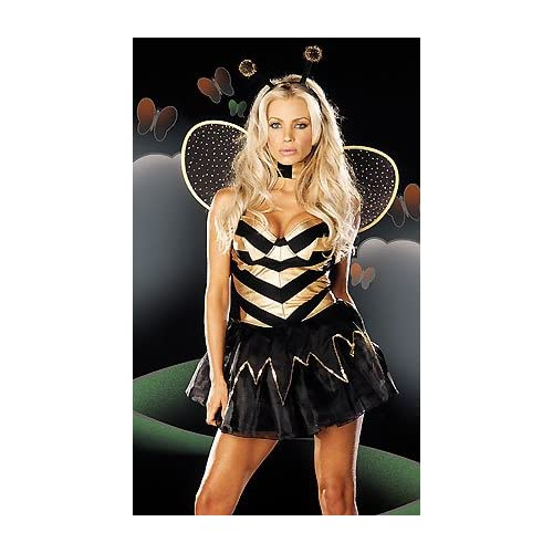 Sexy   Costume: Sexy Girls in Vegas Bee - Women's Sexy Bumble Bee Costume Lingerie Outfit