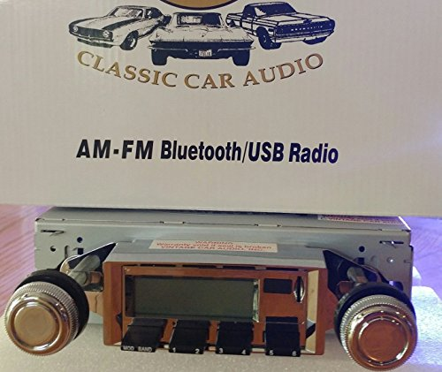 1967-1968 Chevrolet Camaro with Black Dash Bluetooth enabled High power AM/FM Stereo Radio KHE300 USB Flash, Aux, Mini SD Inputs (Chevy Camaro Bluetooth compare prices)