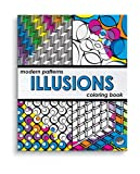 Modern Patterns Illusions Colouring Book