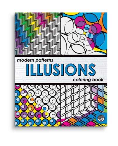 Modern Patterns Illusions Coloring Book front-635758