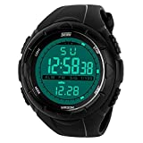 TONSHEN Mens Military Watch LED Digital Multifunction Waterproof Sport Watches,Black