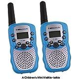 Zomei T388 2Pcs Mini Walkie Talkie 3-5KM Range 22-Channel FRS/GMRS UHF Two-Way Radios Coloful Walkie-Talkie For Kids(Blue)