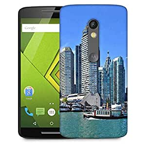 Snoogg Abstract Buildings Designer Protective Phone Back Case Cover For Moto G 3rd Generation