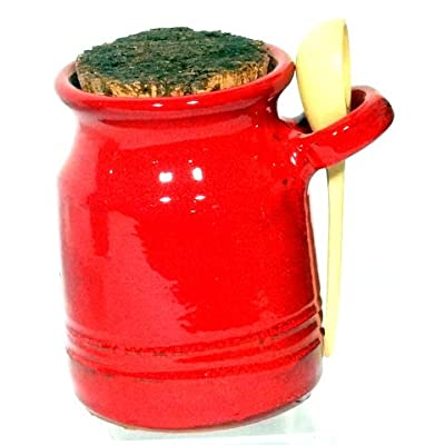 Genuine Terracotta Salt Pot With Ladle - Savannah Red by Be-Active