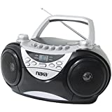 NAXA Electronics Portable CD Player with AM/FM Stereo Radio and Cassette Player/Recorder (Silver)