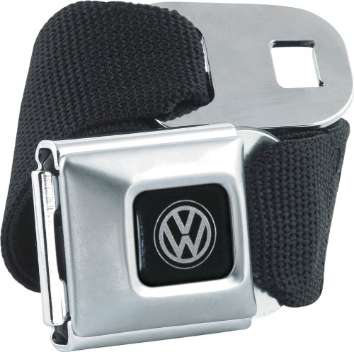 Volkswagon VW Brushed Buckle Seatbelt Belt X-Large 32-52 Inches (Vw Seatbelt Belt compare prices)
