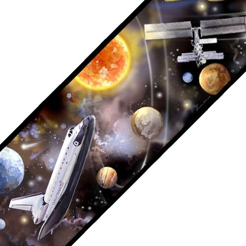 Outer Space Travel Self Stick Wall Border Accent Roll (York Space Border compare prices)