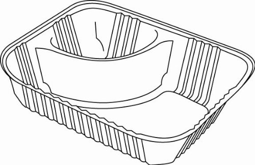 Dart Container C56NT2 Clear Pac Nacho Trays w/2 Compartments (C56NT2DART) Category: Plastic Food Containers (Extract Tray compare prices)