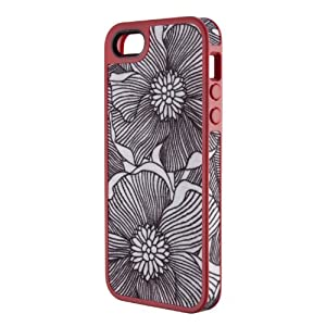 Speck Products FabShell Fabric-Covered Case for iPhone 5 & 5S – Retail Packaging – FreshBloom Coral Pink/Black