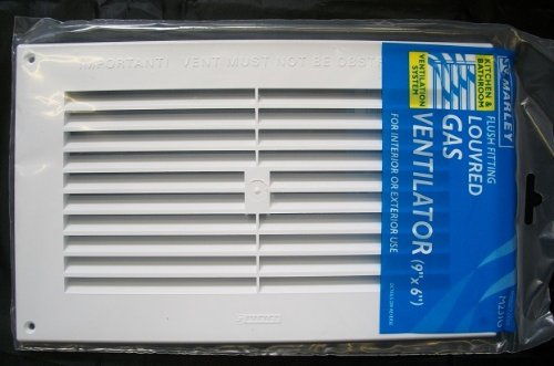 Marley white internal external louvred Gas Air Vent grill 9
