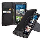 Premium Tasche für HTC One M9 / Außenseite aus Echt-Leder