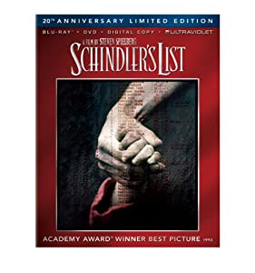 Schindlers List 20th Anniversary Limited Edition Blu-ray Dvd Digital Copy Ultraviolet from Universal Studios