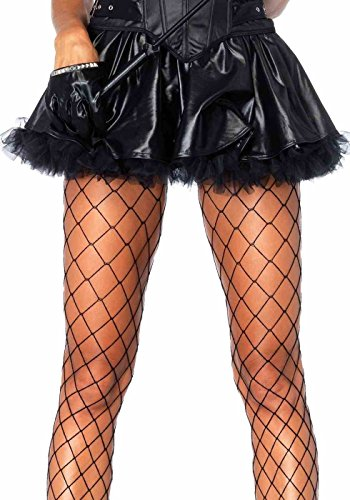 Wet Look Petticoat Skirt One Size Black