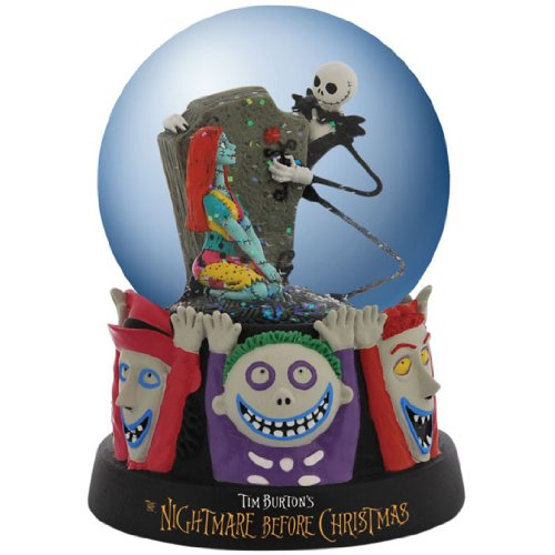 Disney Nightmare Before Christmas Snow Globe Celebrating Our Love