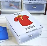 Mes Polos' Foldable Polo Shirt Storage Box