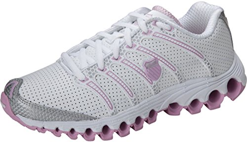 K-Swiss Tubesrun 100 Athletic Shoe White/Powder Pink/Silver Size 8
