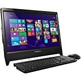 Lenovo C260 19.5-inch Non-TouchScreen All-in-One Desktop (Intel Celeron J1800 2.58 GHz, 4 GB DDR3 RAM, 500 GB HDD, Integrated Graphics, DVDRW, HDMI, Camera, Wi-Fi, Windows 8.1 with Bing) - Black