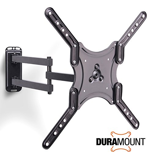 Duramount Articulating TV Wall Mount - Swivel Full Motion Tilt Bracket For 17 Inch to 56 Inch LED, LCD, Plasma, Flat Screen Monitors - With Bubble Level and 9 Foot HDMI Cable (Bracket For Flat Screen Tv compare prices)