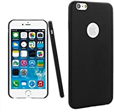 iPhone 6 Case [Thinnest] Leather Back Cover (Black)