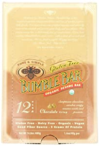 BumbleBar Gluten Free Organic Energy Chocolate Crisp, 1.4-Ounce Bars (Pack of 12) by Bumble Bar