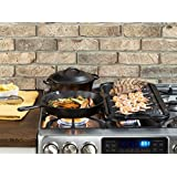 3 X Lodge LGP3 Pre-Seasoned Rectangular Cast-Iron Grill Press