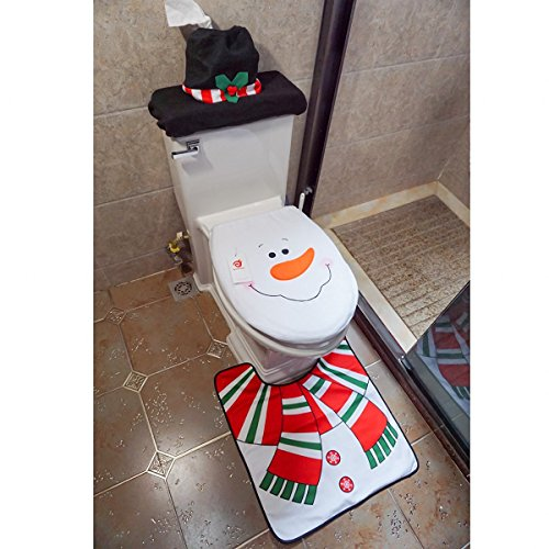 Cute Christmas Toilet Seat Cover Sets It S Christmas Time